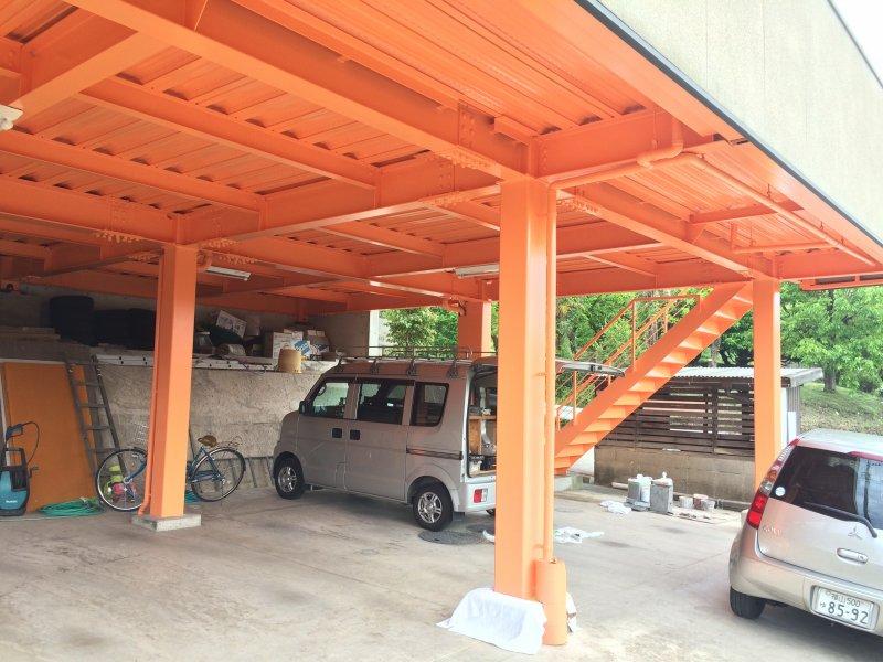 T様邸車庫塗装工事